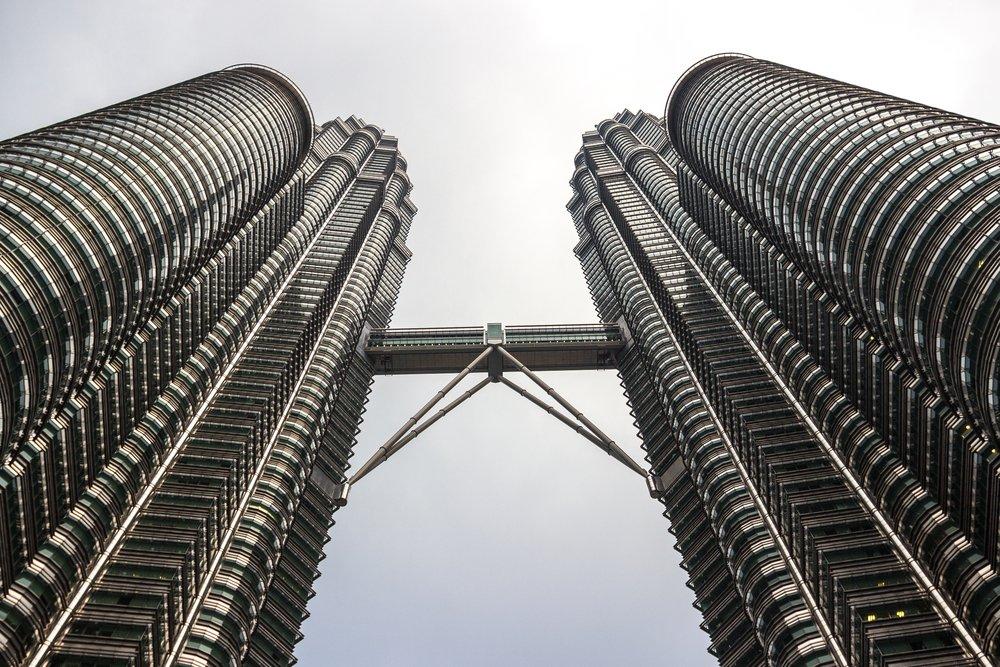 Petronas Towers skyscraper @shutterstock Kuala Lumpur itinerary