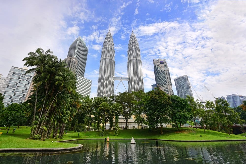 KLCC Park @shutterstock best places to visit in Kuala Lumpur in 3 days