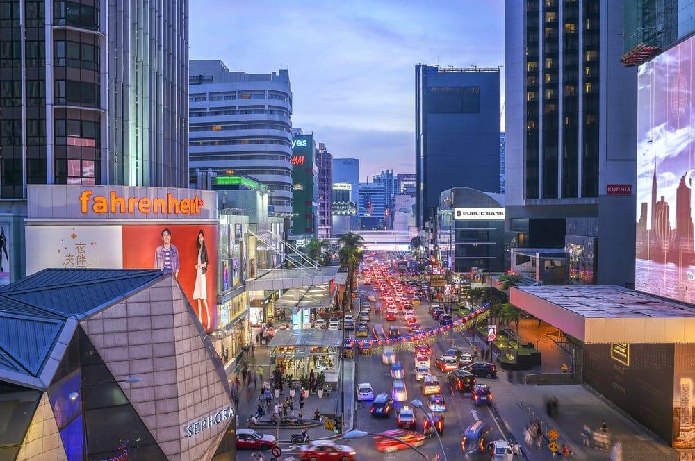 Bukit Bintang @shutterstock 3 day itinerary Kuala Lumpur