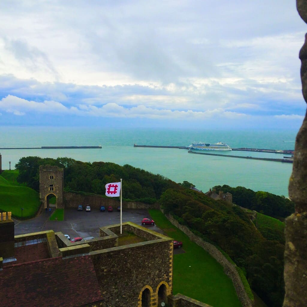 Dover Castle - Best view over Dover from Dover Castle
