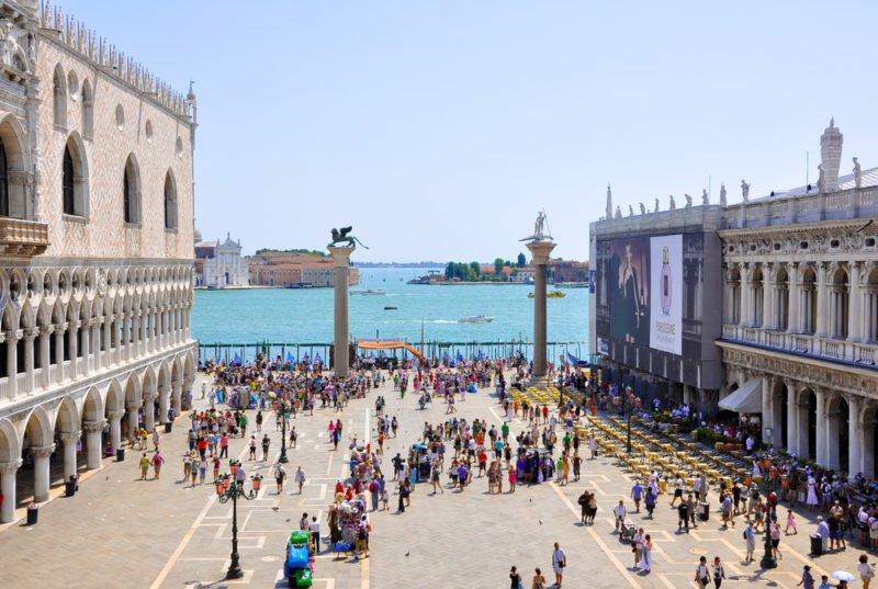 The Piazzetta San Marco, view from Saint Mark's Basilica @shutterstock