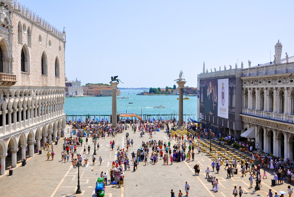 The Piazzetta San Marco, view from Saint Mark's Basilica @shutterstock
