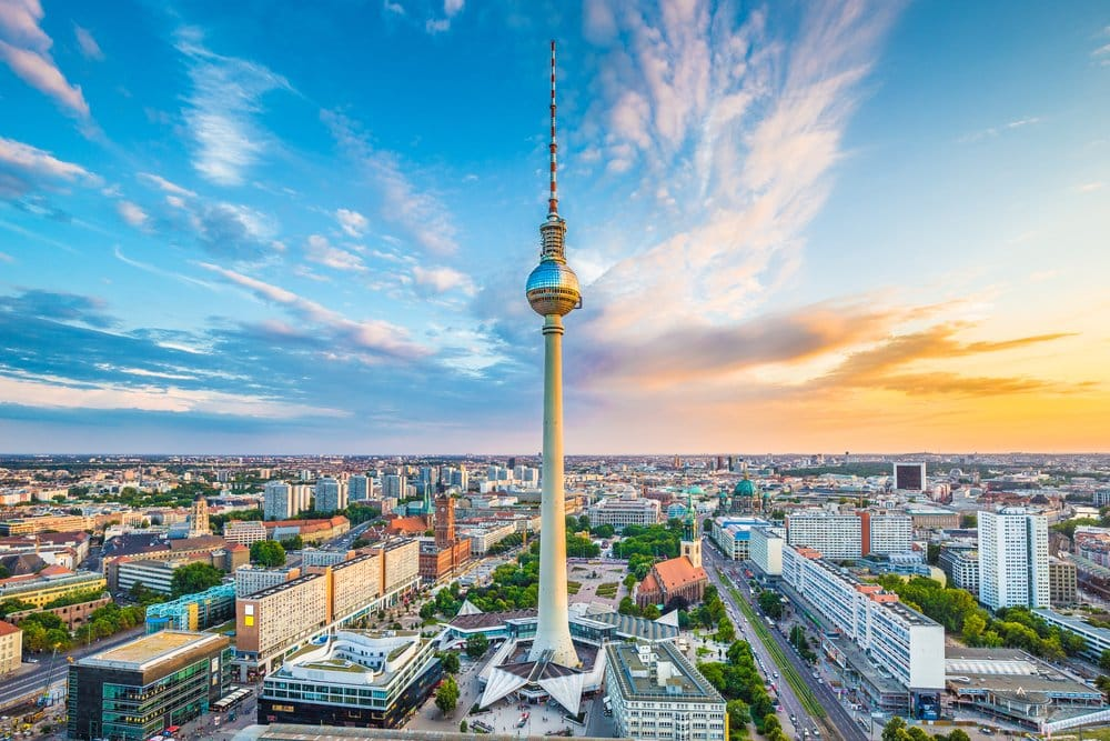 The Fernsehturm is one of the highest television towers in Europe