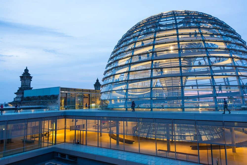 Der Bundestag - The Parliament. If you have time visit the Bundestag (free entry)