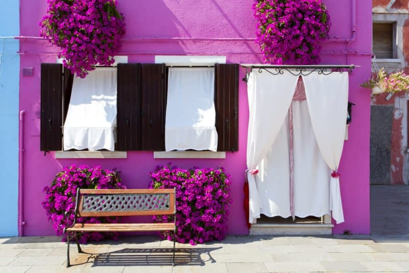 Burano - Venice, Italy, one of the most colorful places in the world. @shutterstock