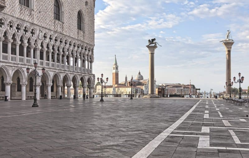 View of San Marco piazetta with Doge's Palace @shutterstock