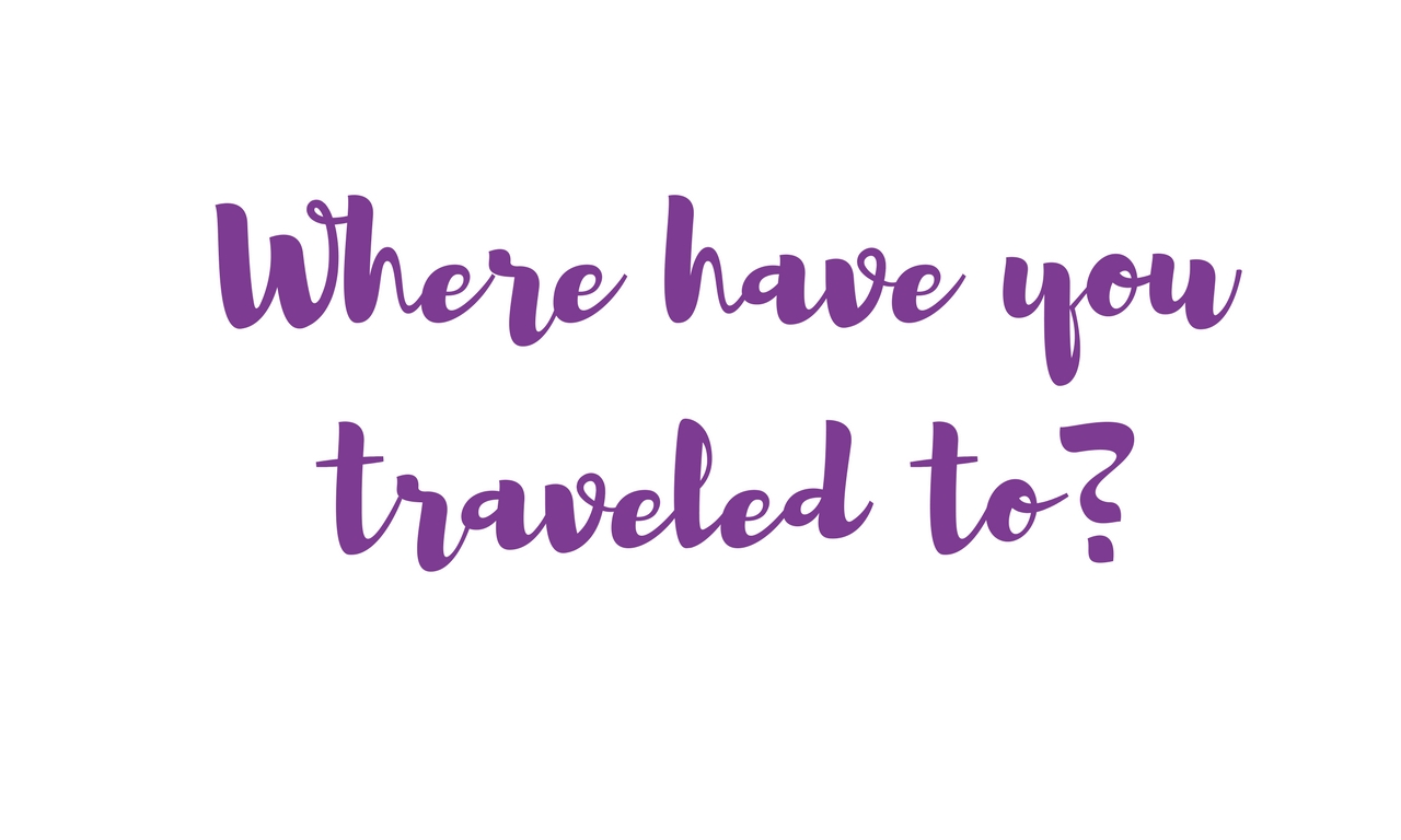 Which Places Have you Already Visited?