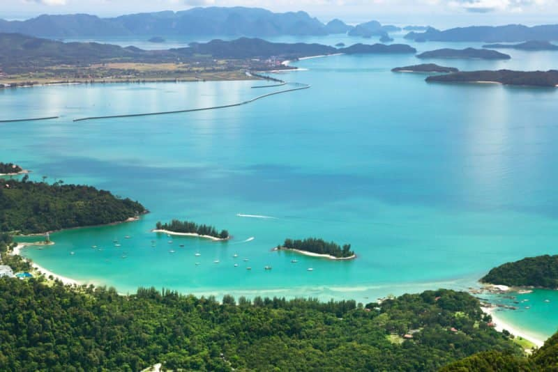 Can a view be much better? Great view from the Cable Car Station in Langkawi @shutterstock