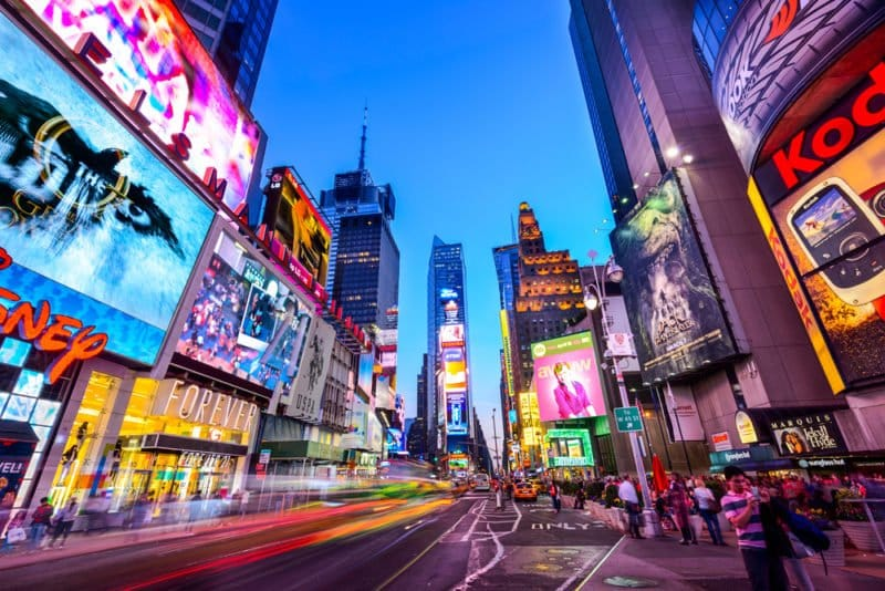 Times Square in NYC @shutterstock