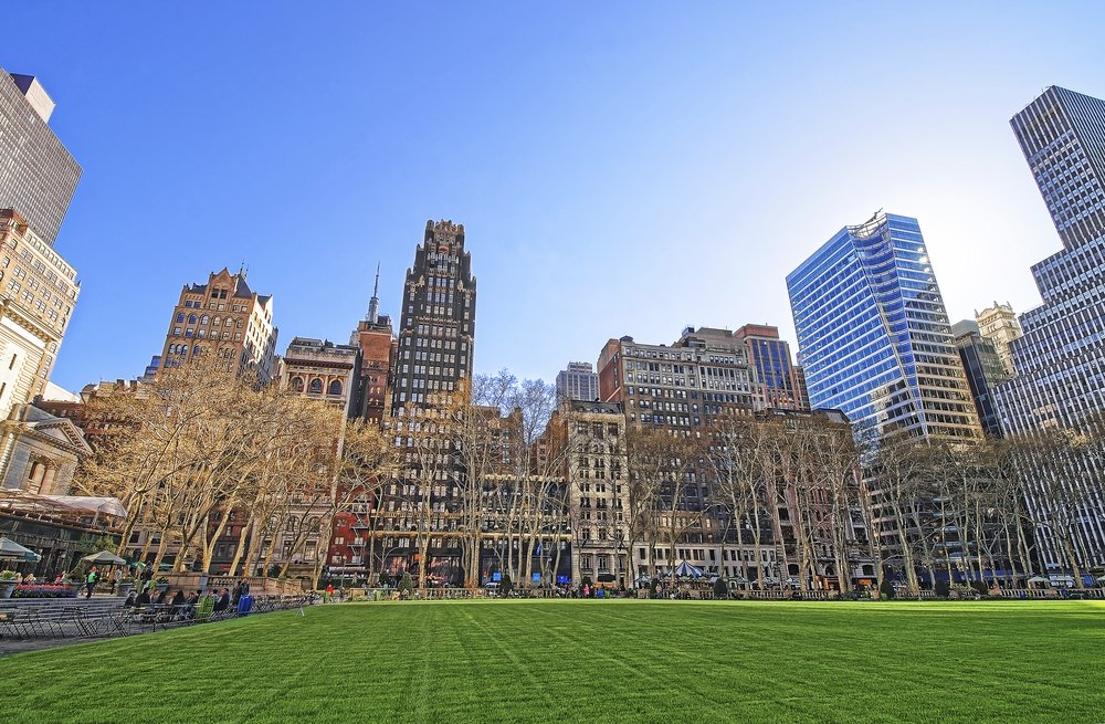 Bryant Park in New York @shutterstock