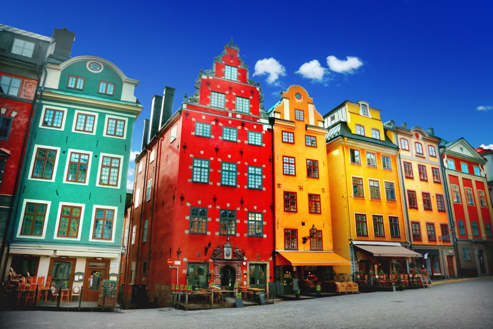 Gamble Stan the old town in Stockholm @adobestock