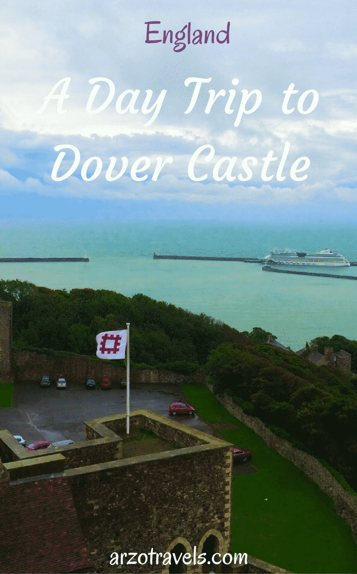 A day trip from London to Dover. Visit the oldest castle in England: where history meets great views. Dover Castle in the south of England