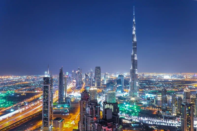 Dubai at night @shutterstock