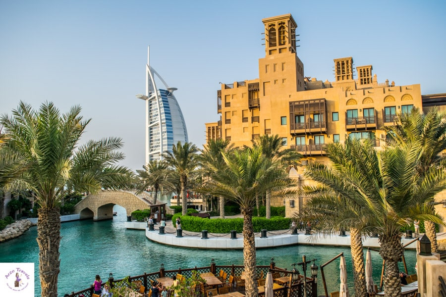 Best places to see in Dubai in 2 days Burj Khalifa seen from Madinat Jumeirah
