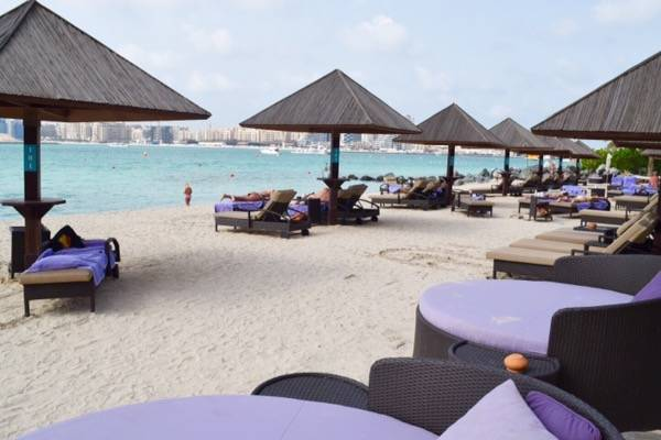 Beach front of Westin Dubai Mina