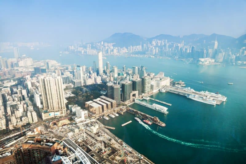 Panorama view to Hong Kong from Sky100