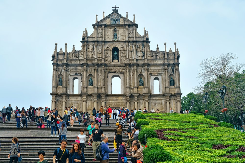 Ruins of Saint Paul in Historic old city center in Macao, China @shutterstock