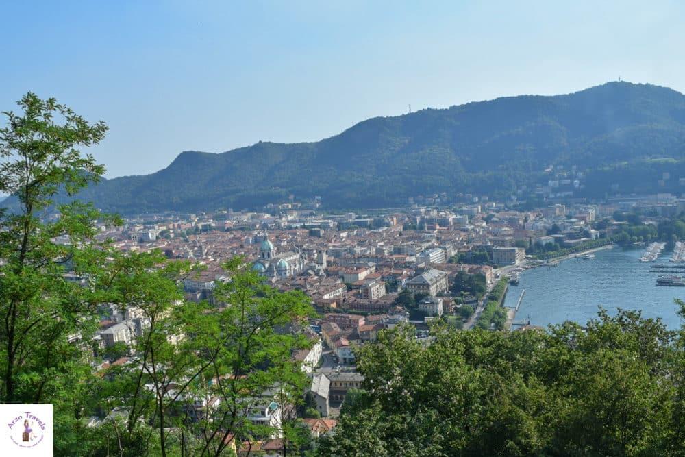 brunate view over lake como and como town