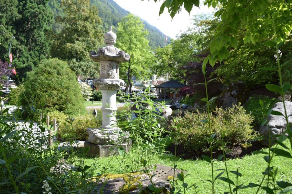 Breakfast with a view at Hotel Interlaken - Hotel Interlaken´s Garden