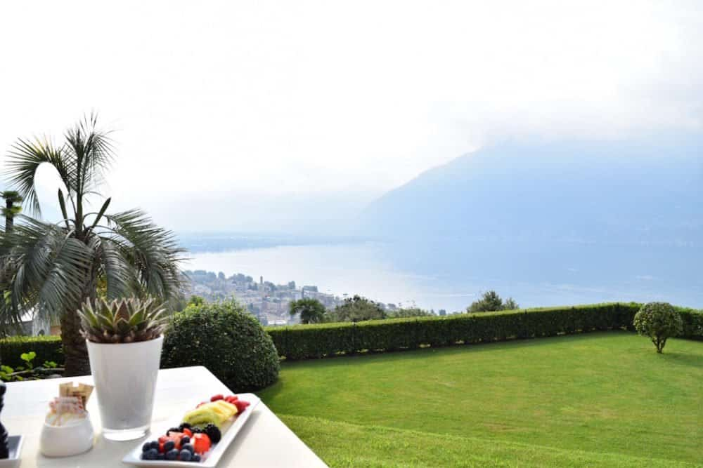Breakfast with a view at Villa Orselina