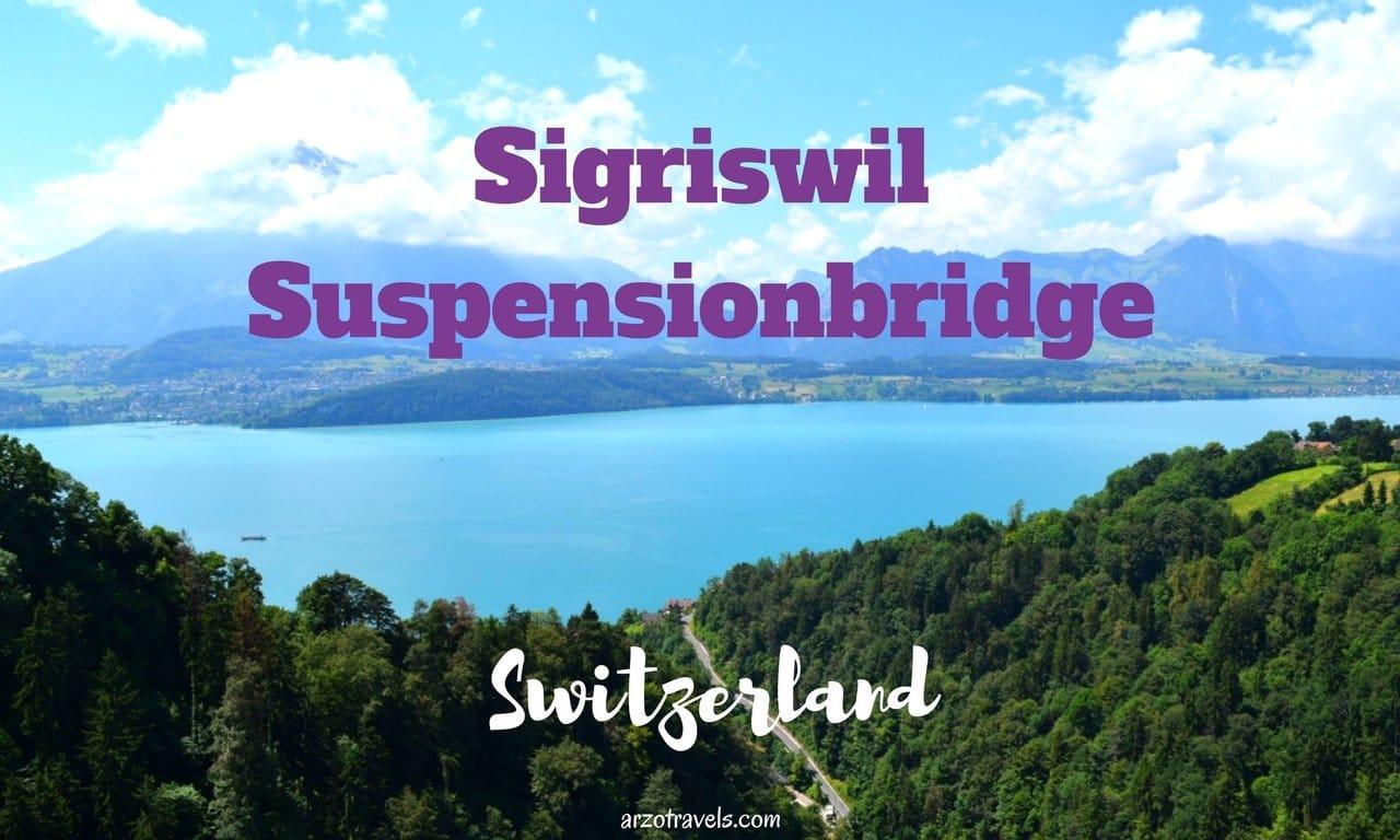 Sigriswil Suspensionbridge in Switzerland