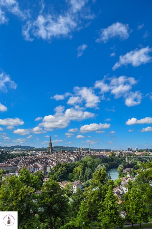 Bern on a sunny day with an amazing view