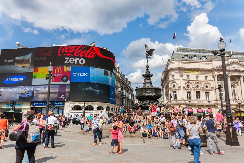 Empty Piccadilly Circus @shutterstock
