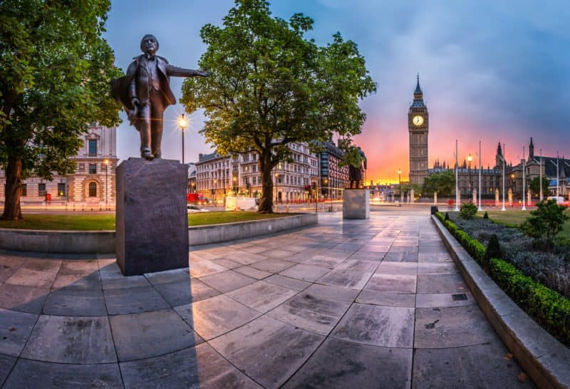 Parliament Square in London @shutterstock