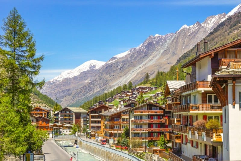 Zermatt and the Vispa River @shutterstock