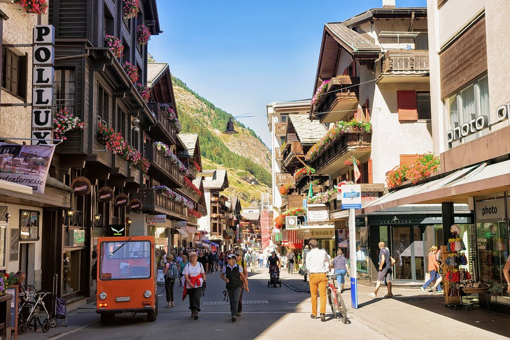Zermatt - Town Center @shutterstock