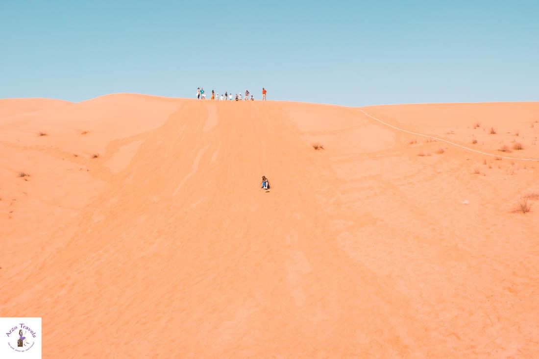 Sand Boarding in Dubai´s Desert