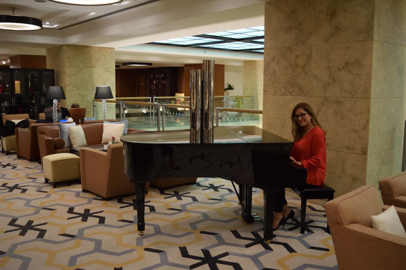 Probably was not meant for guest but it is fun pretending you can play piano