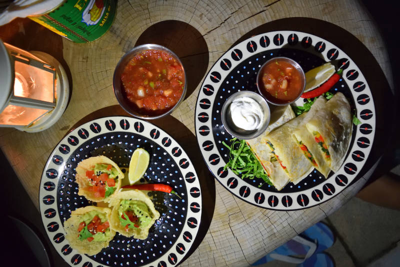 Delicious Vegetarian Food at Mexican Dust Restaurantd at Mexican Dust Restaurant. Zaya Nurai Island Resort