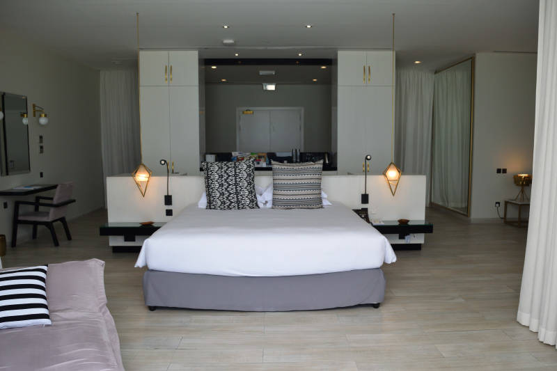 Our comfortable bed at the Zaya Nurai Island Resort