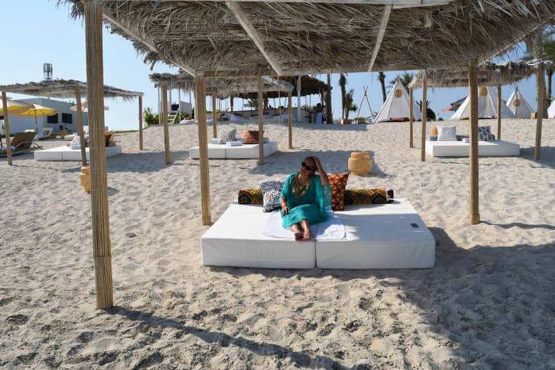 Relaxing at Smokin´Pineapple at Zaya Nurai Island Resort Abu Dhabi