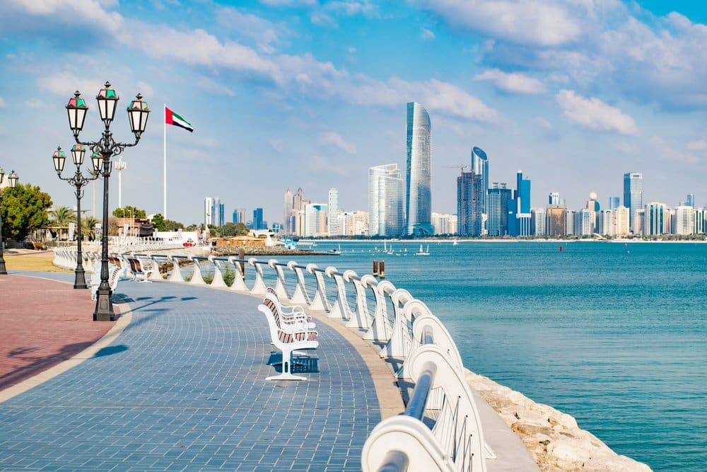Corniche in Abu Dhabi @shutterstock places to visit in Abu Dhabi