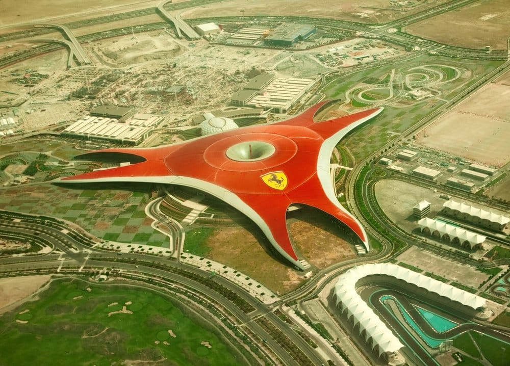 Ferrari World in Abu Dhabi @shutterstock