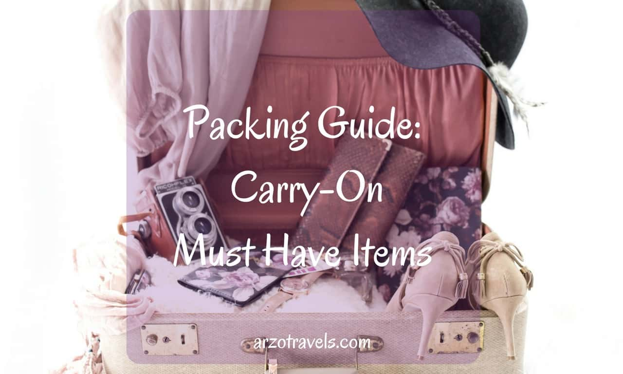Carry On Packing Items