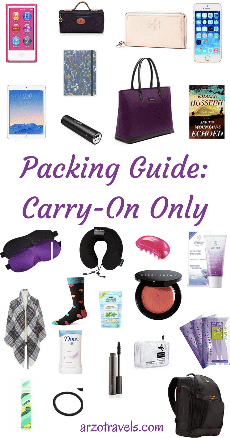 c444c25860f Packing Guide  Carry-On Essentials - Arzo Travels