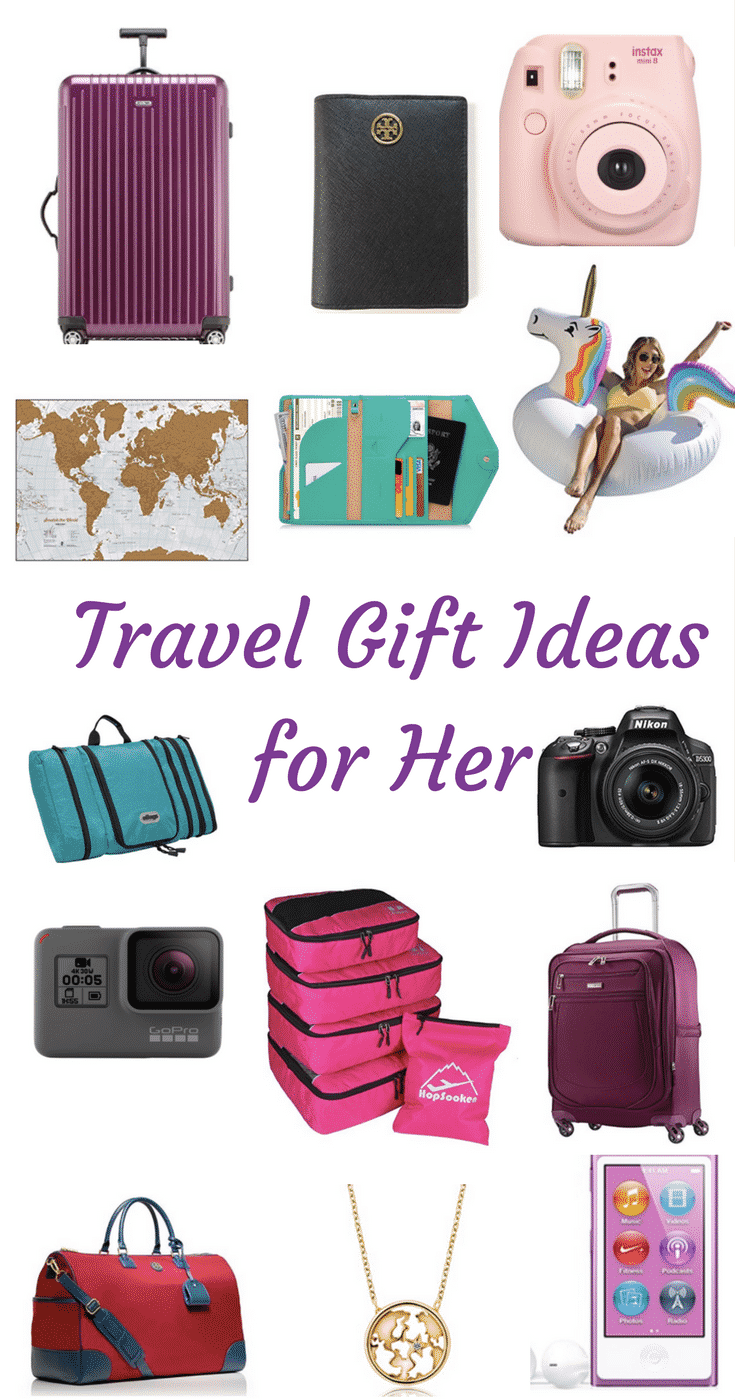 Travel Gift Ideas for Her. No ideas what to get for a travel addict? Find some ideas for each price range.