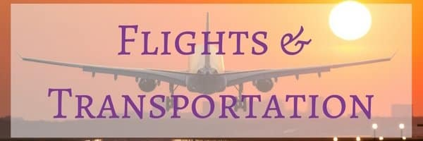 Flights and Transportation