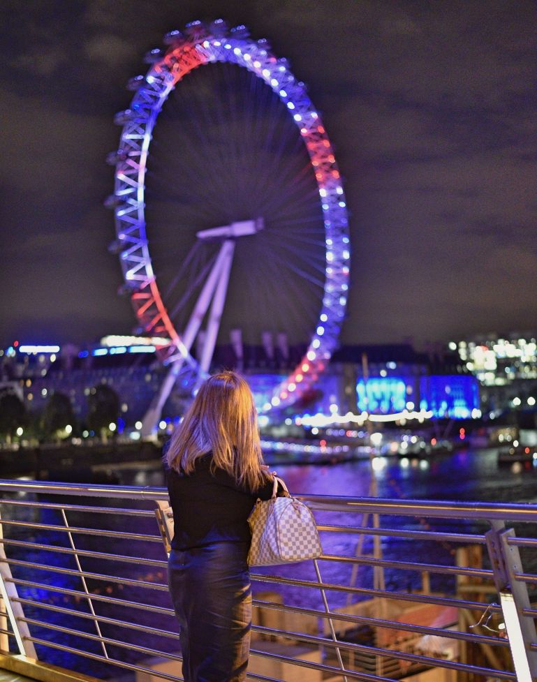 London Eye at night - what a beauty.