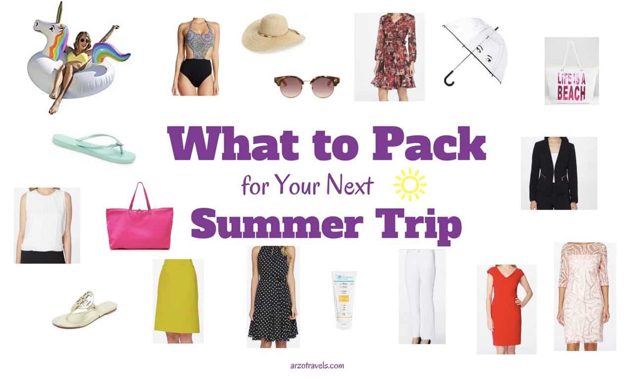 Best Packing List For A Summer Vacation Arzo Travels