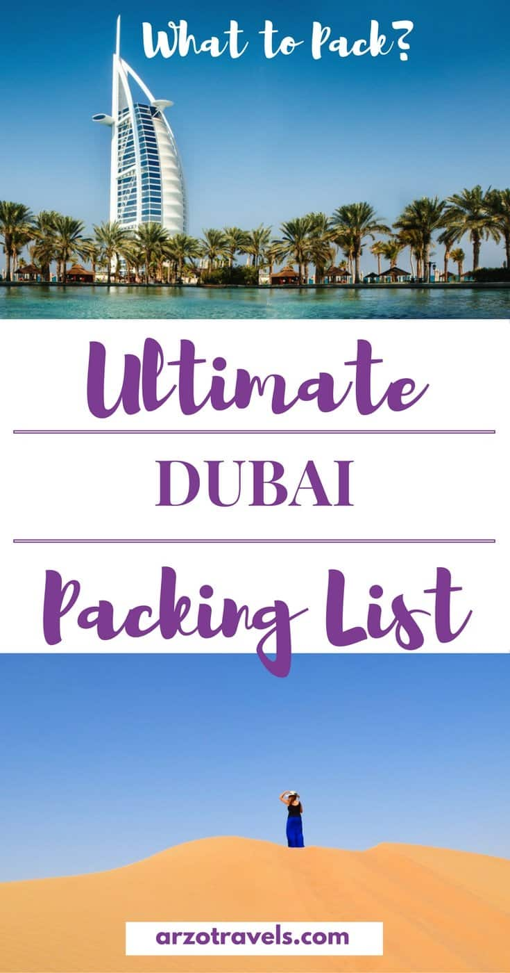What to Pack for Dubai - Dubai Packing List