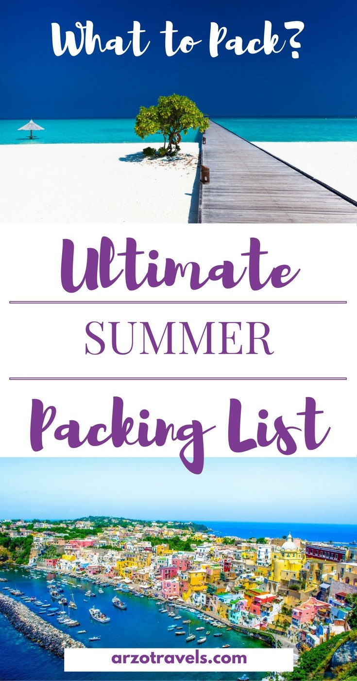 What should I pack for a summer trip? Find the ultimate summer packing list.