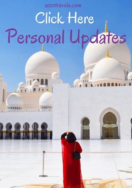 Personal Updates | Arzo Travels