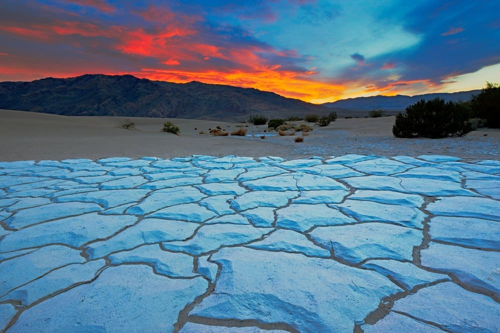 Sunset from Mesquite Flat Sand Dunes, Death Valley National Park, California