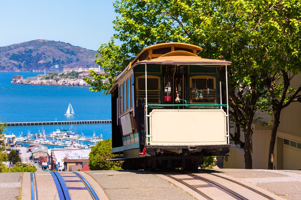 San Francisco Hyde Street Cable Car Tram of the Powell-Hyde in California USA - best things to do in 2 days