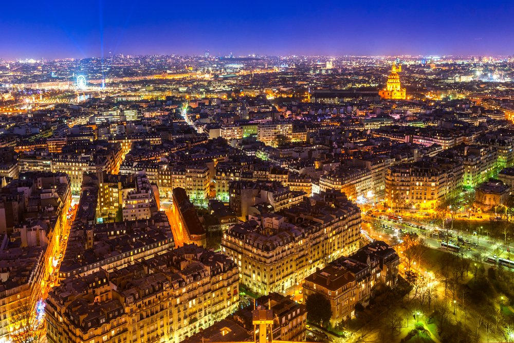 Most beautiful City at Night Paris