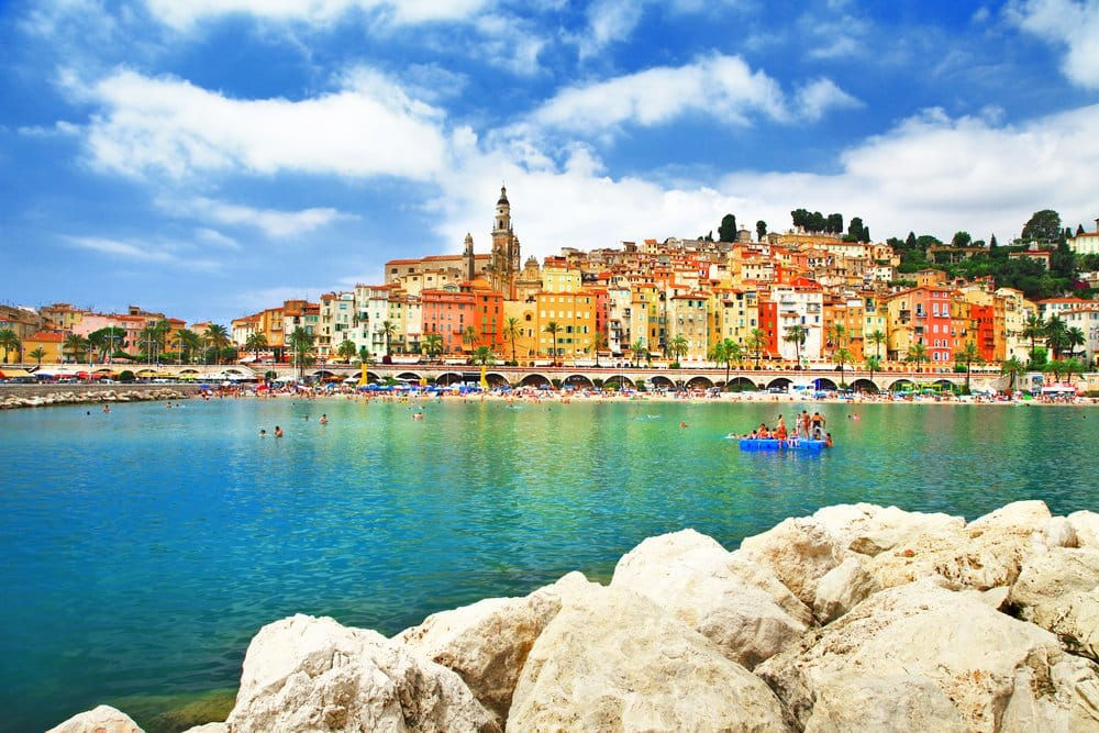 Menton - town in south of Franc
